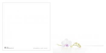 Bidprenten orchidee