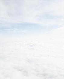 Rouwbrief wolken