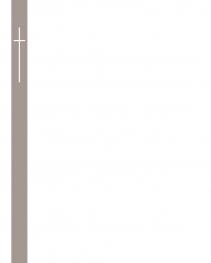 Rouwbrief grijze band met kruis