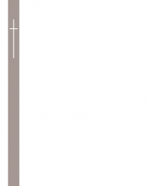 Faire-part bande grise avec croix