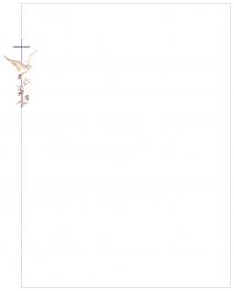 Faire-part colombe et croix