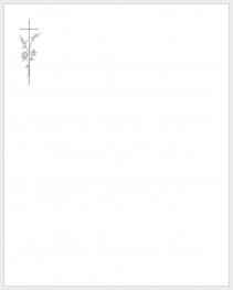 Faire-part bord gris croix et épi