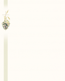 Faire-part fleurs, croix et épi