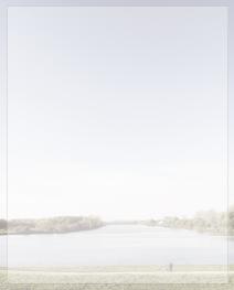 Rouwbrief dubbel rivier landschap