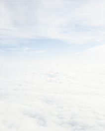 Rouwbrief dubbel wolken