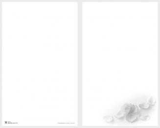 Carte double pétales de roses