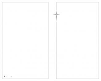 Carte double croix encadrée