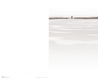 Rouwkaart dubbel wandeling op strand