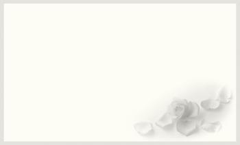 Rouwkaart enkel rozenblaadjes