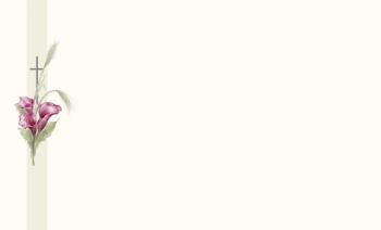 Carte simple arum avec croix