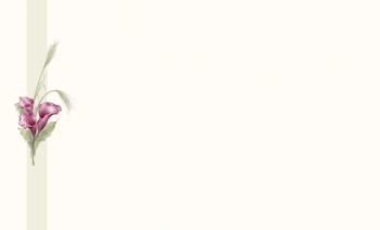 Carte simple arum rouge