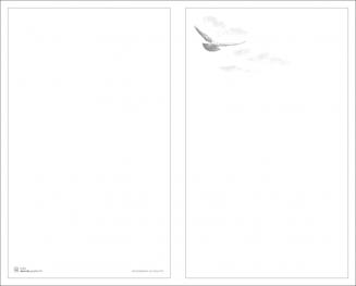 Rouwkaart dubbel vogel