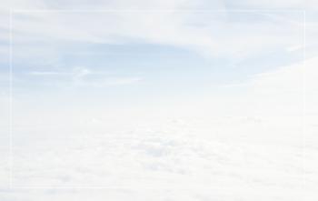 Carte de remerciement nuages