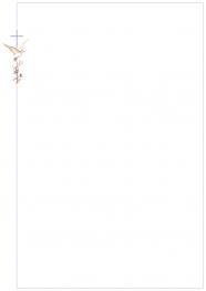 Faire-part A4 colombe et croix