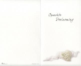 Carte de condoléances, format double avec marquage 'Oprechte Deelneming'