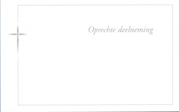 Carte 'Oprechte Deelneming' Néerlandais